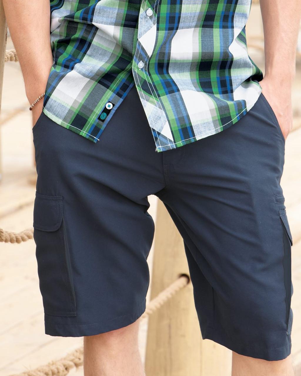 Blue summer shorts for men