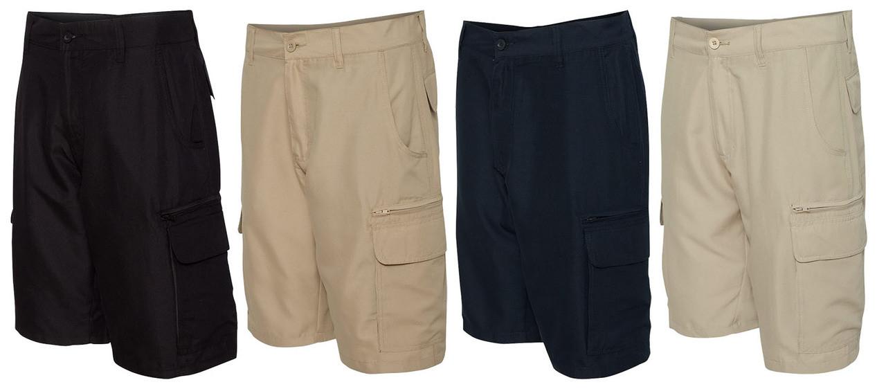 Black, Navy, Khaki, and Stone Burnside Men's shorts
