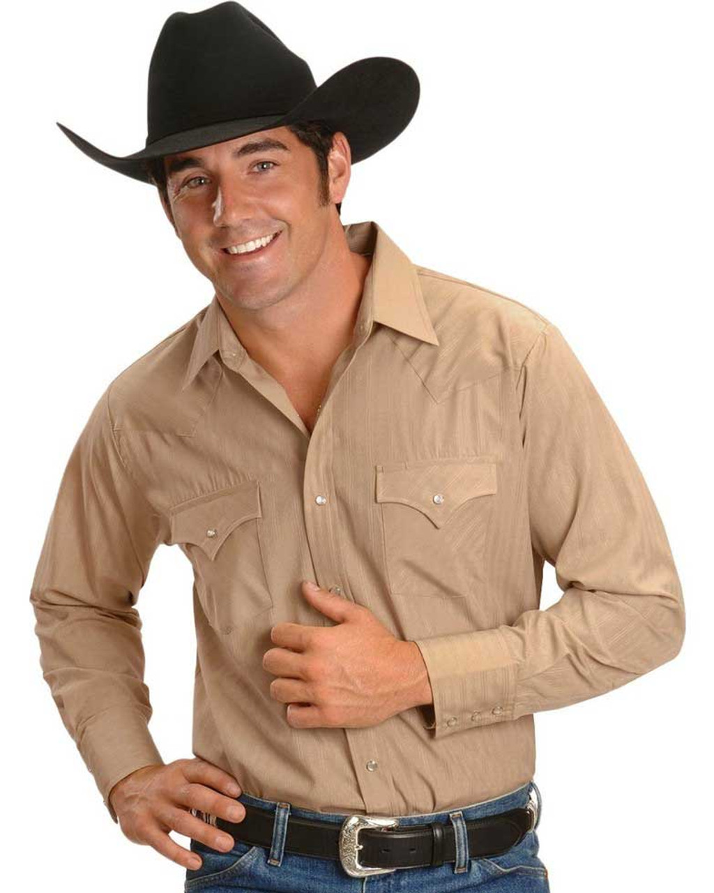 Tone on Tone Long Sleeve Western Shirt