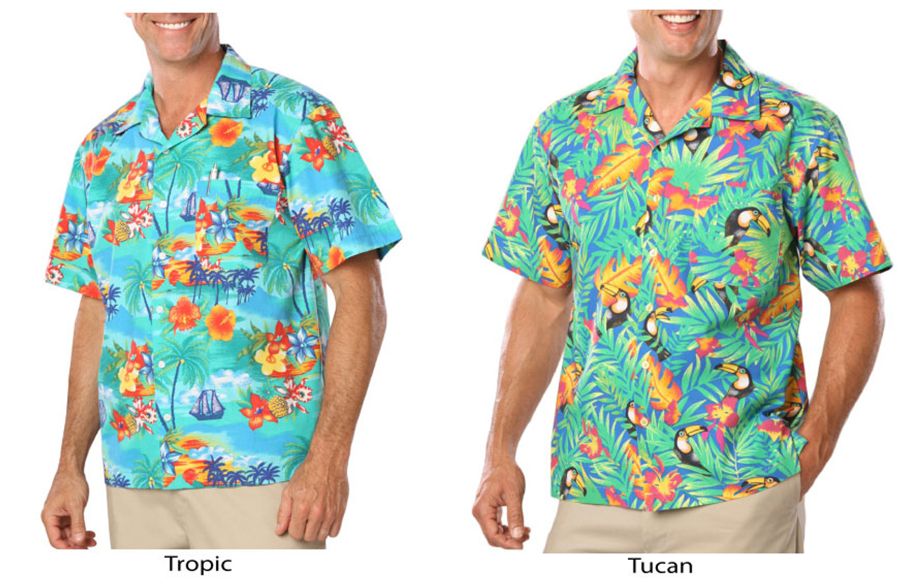 Tropic and tucan camp shirts
