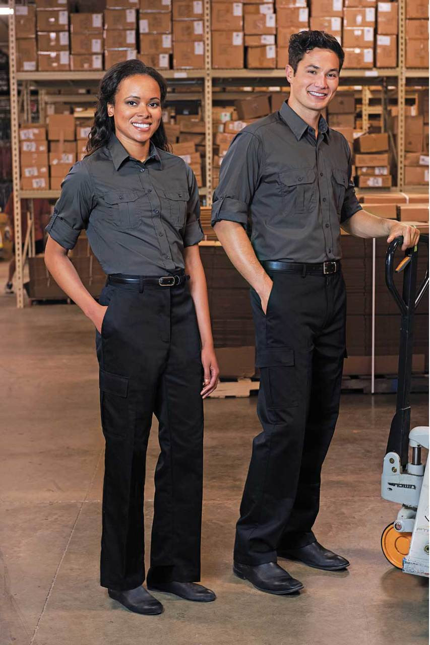Uniform cargo pants hemmed to your length