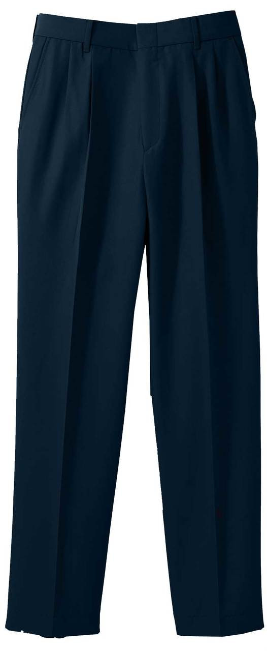 Men's Washable Poly/Wool Pleated Pants