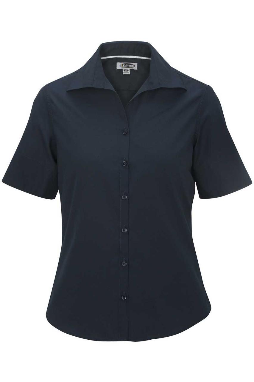 Women's Open Neck Short Sleeve Blouse