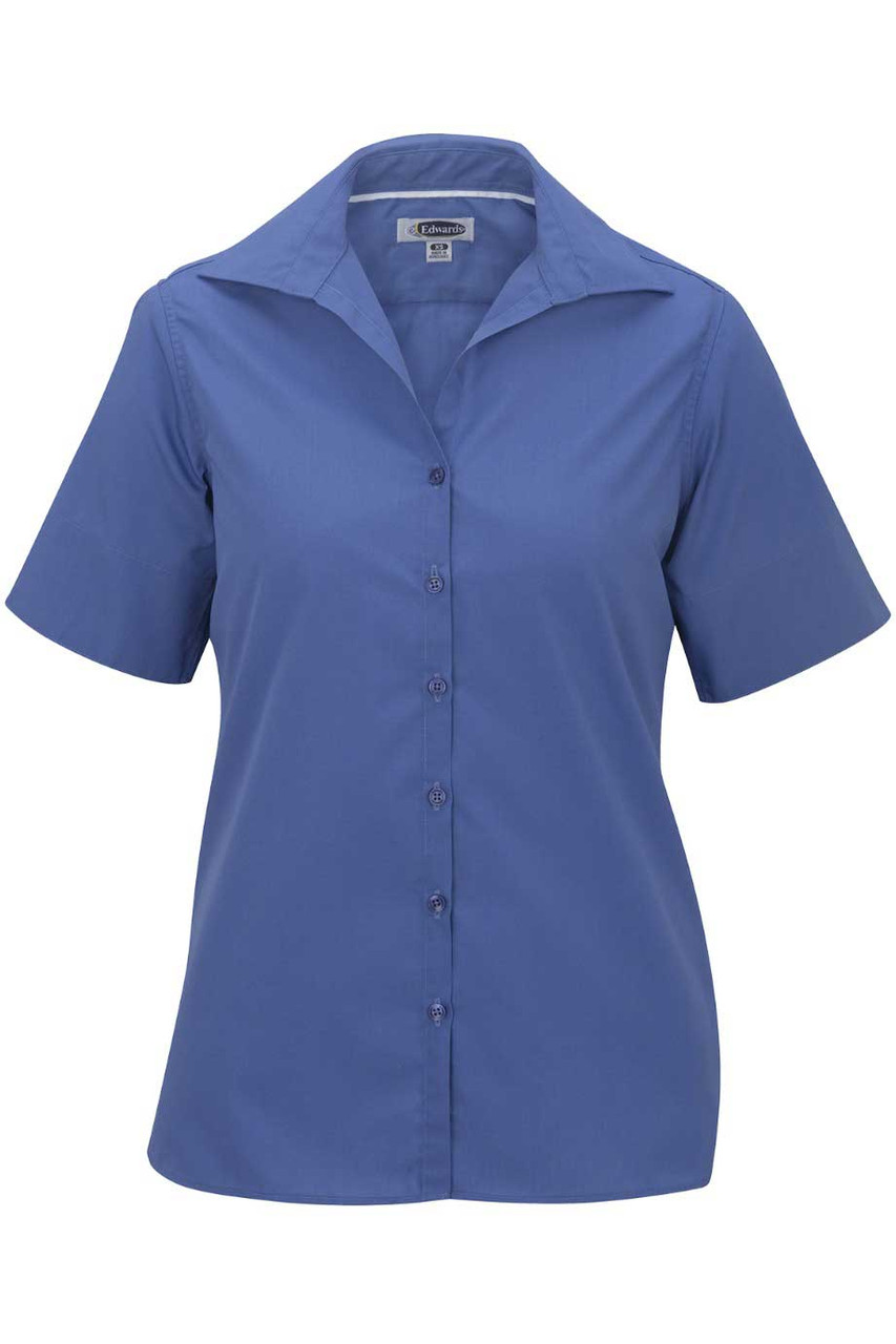 Women's Open Neck Short Sleeve Blouse