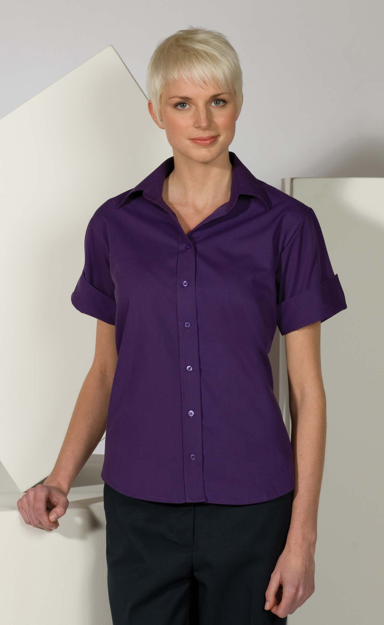 5245 Short Sleeve Work Blouse