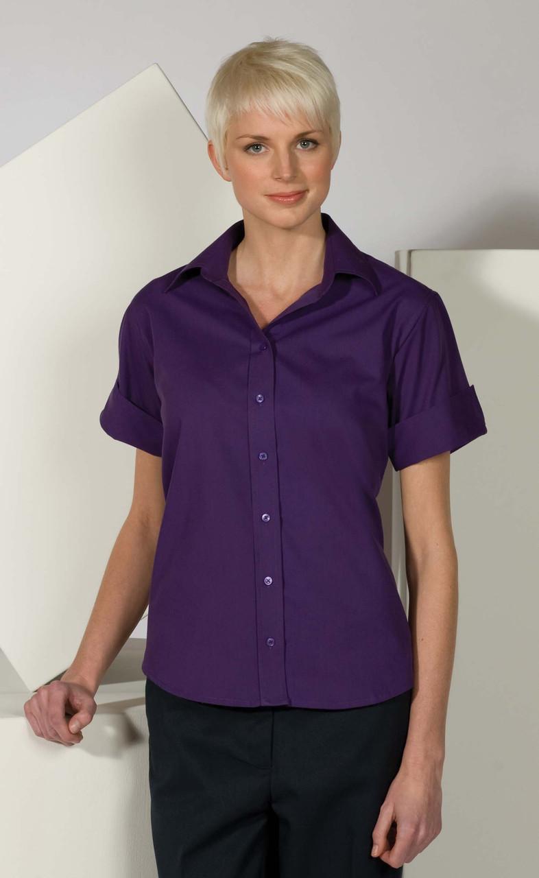 5245 Short Sleeve Work Blouse