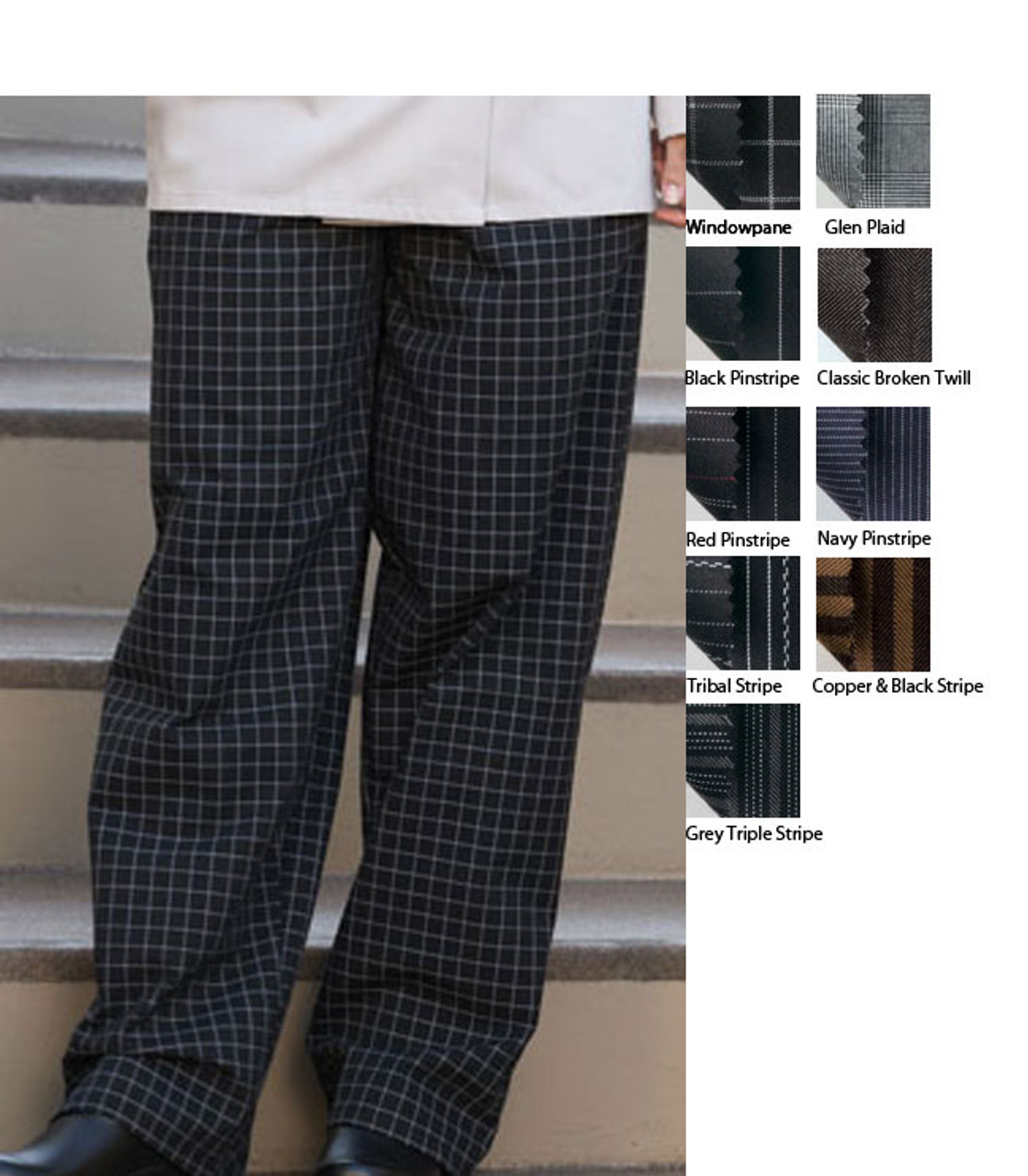 Loose chef pants with pockets