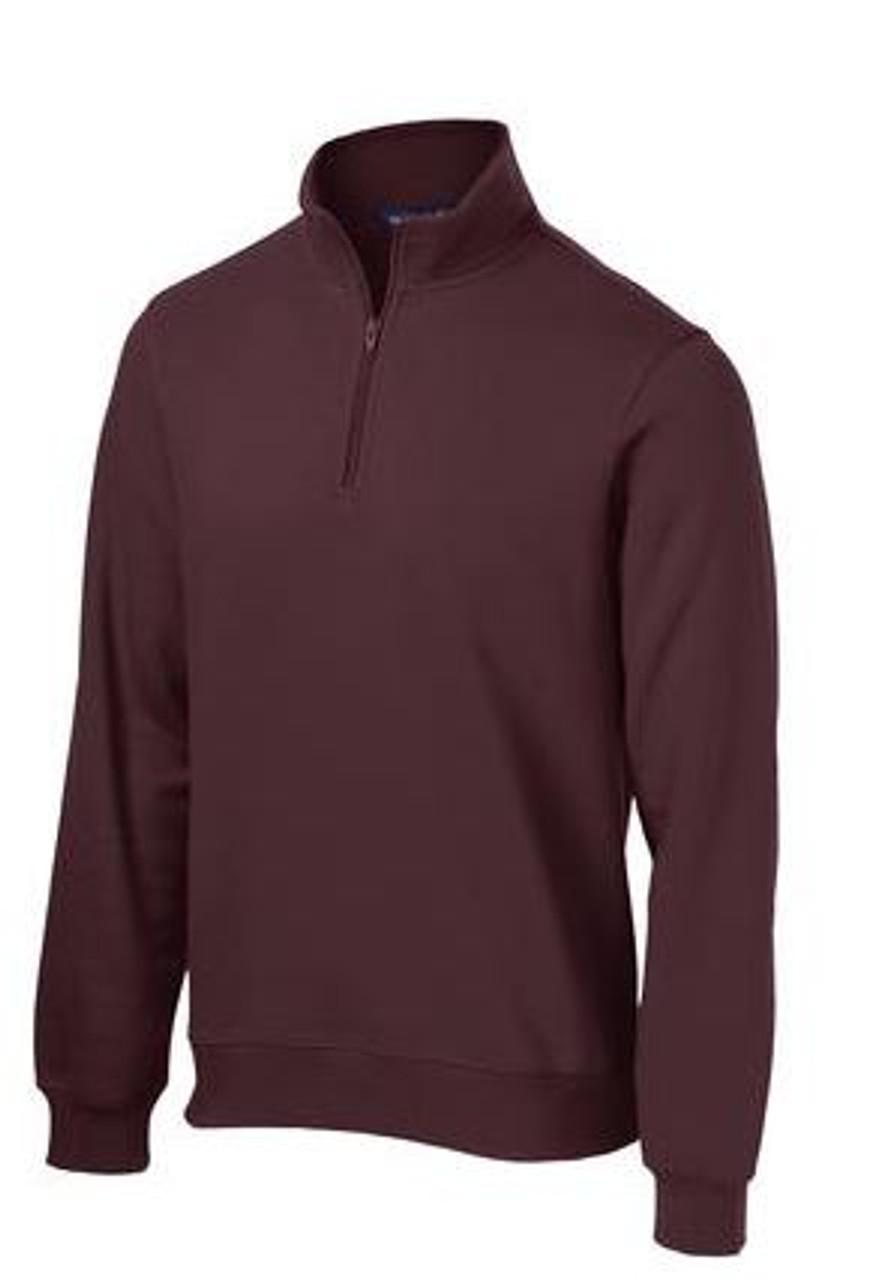Maroon 1/4 Zip Sweatshirt