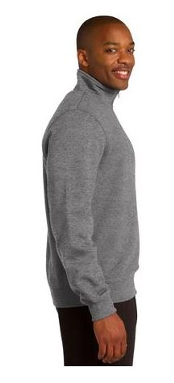 Vintage Heather Side View 1/4 Zip Sweatshirt