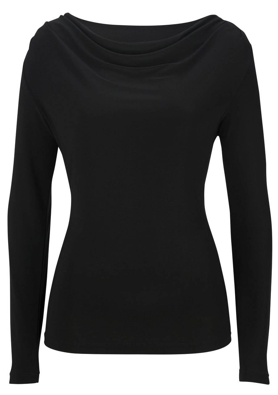 Long Sleeve Cowl Neck Uniform Blouse CLOSEOUT No Returns