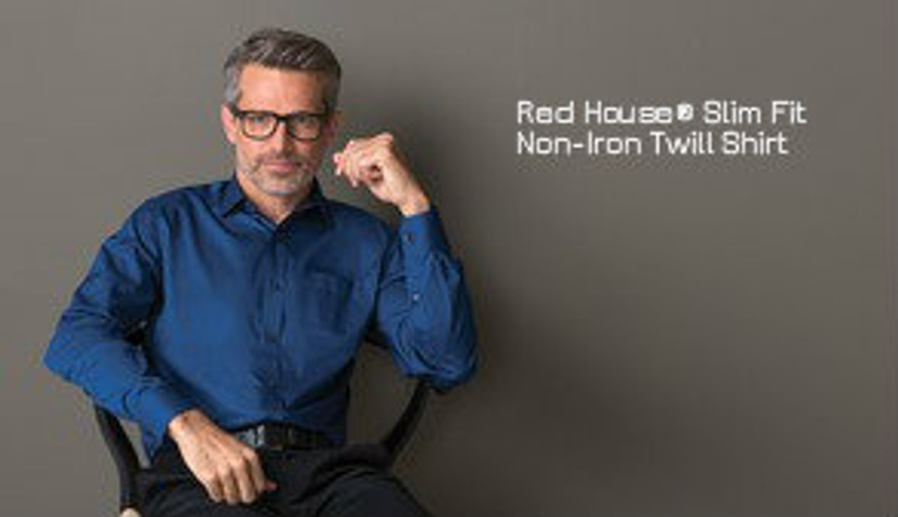 Red House Slim Fit Non-Iron Twill Shirt RH80