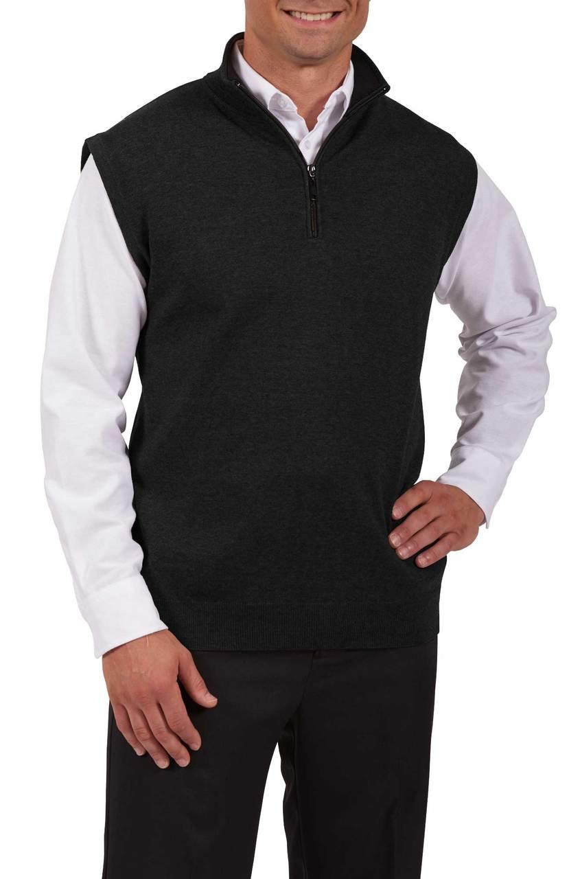 Quarter Zip Cotton Hotel Uniform Vest