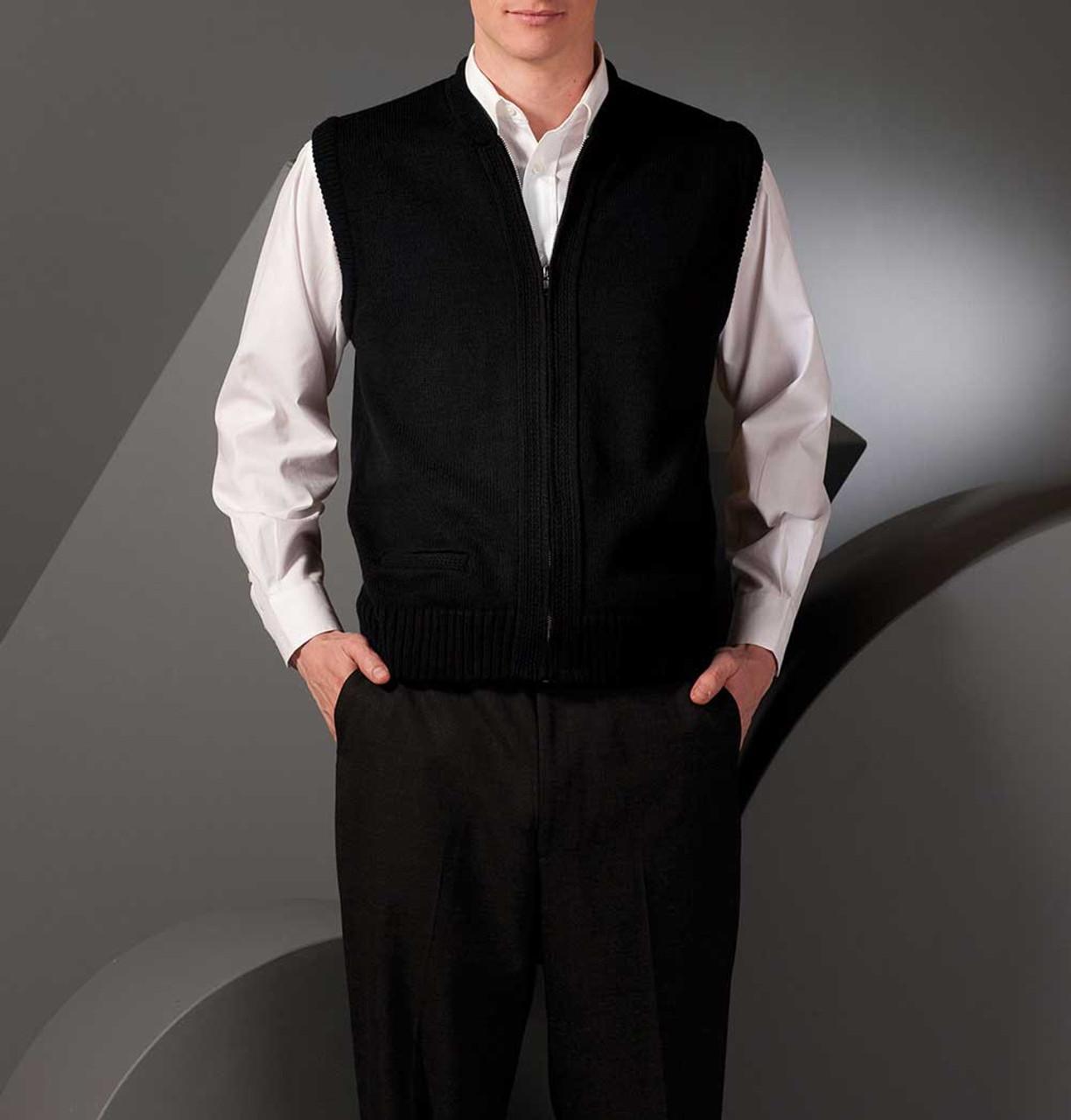 Heavyweight Acrylic Zip Vest