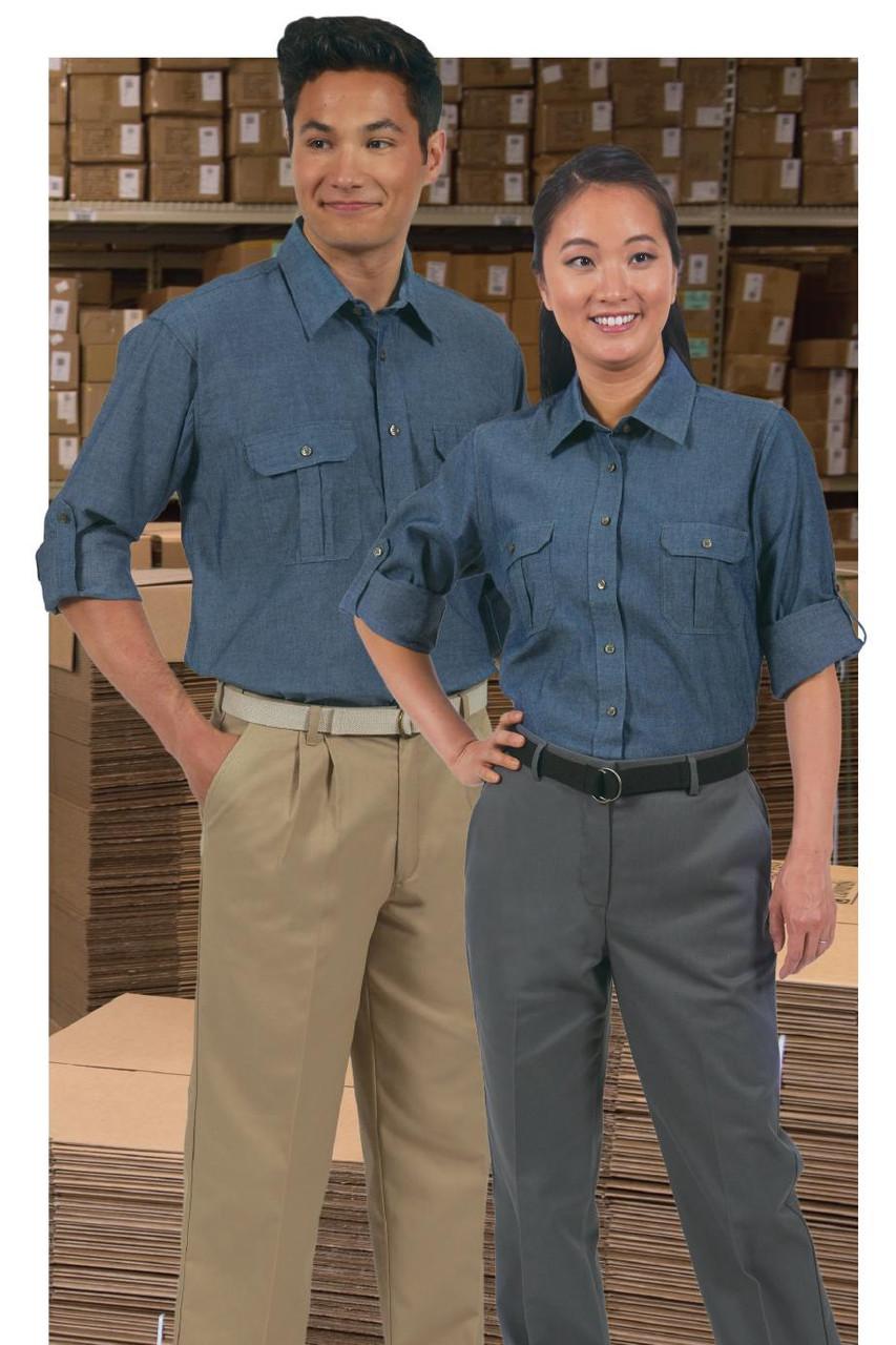 Women's Flat Front Business Pants Edwards 8519