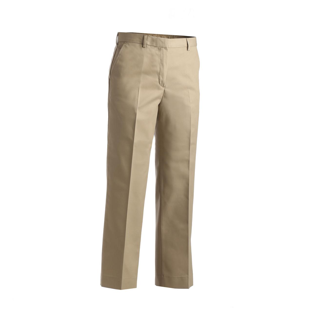 Women's Flat Front Chino Pants