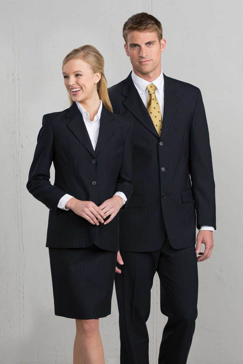 9769 Women's Navy Pinstripe Suiting