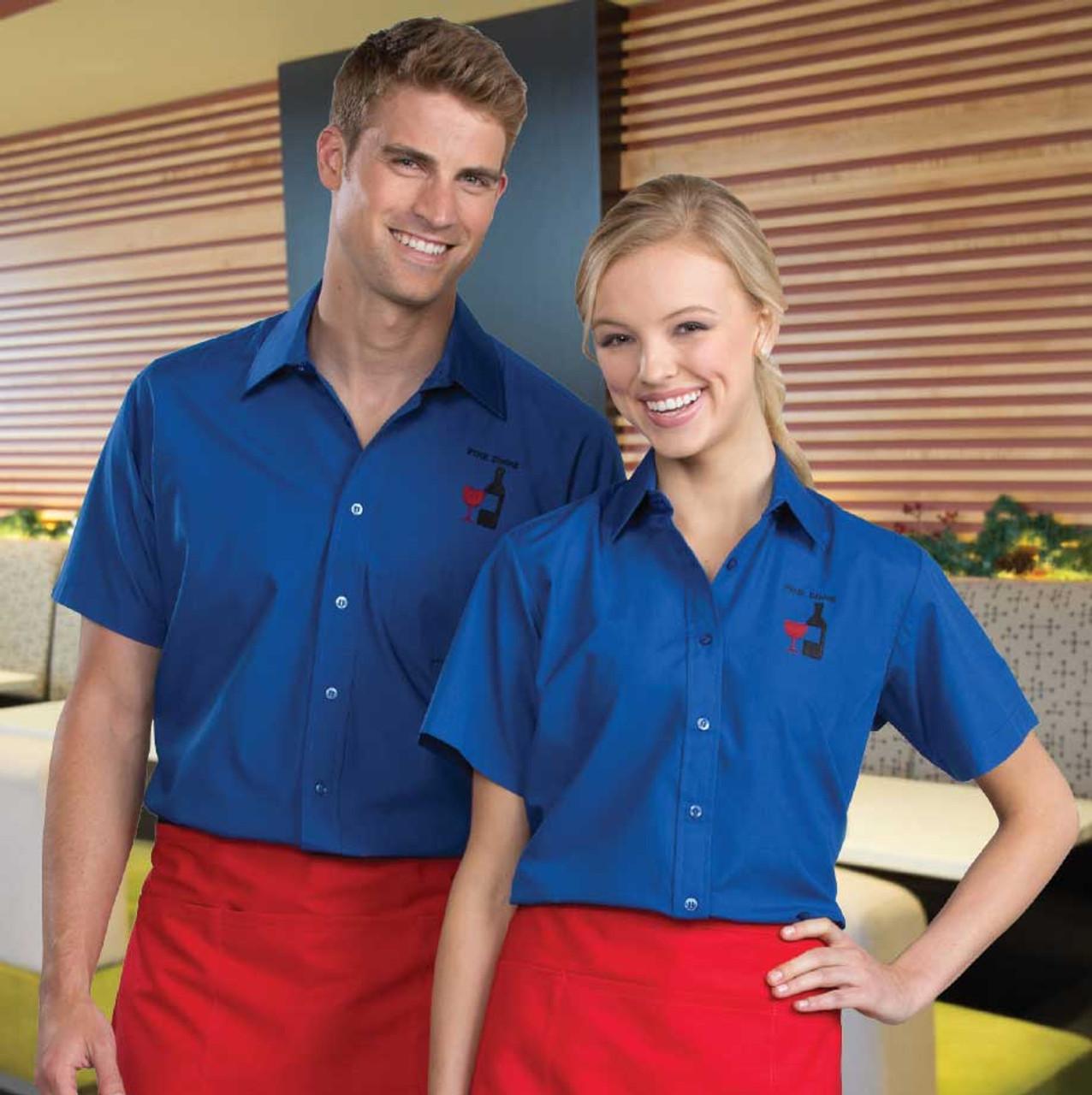Lightweight Short Sleeve Uniform Shirt for Women