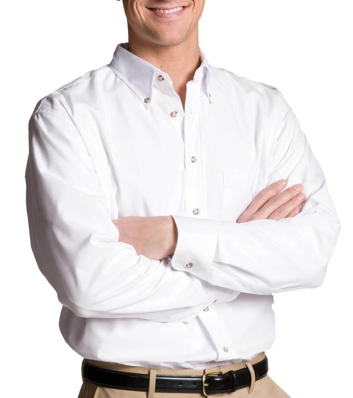 Men's Long Sleeve Easy Care Poplin Shirt