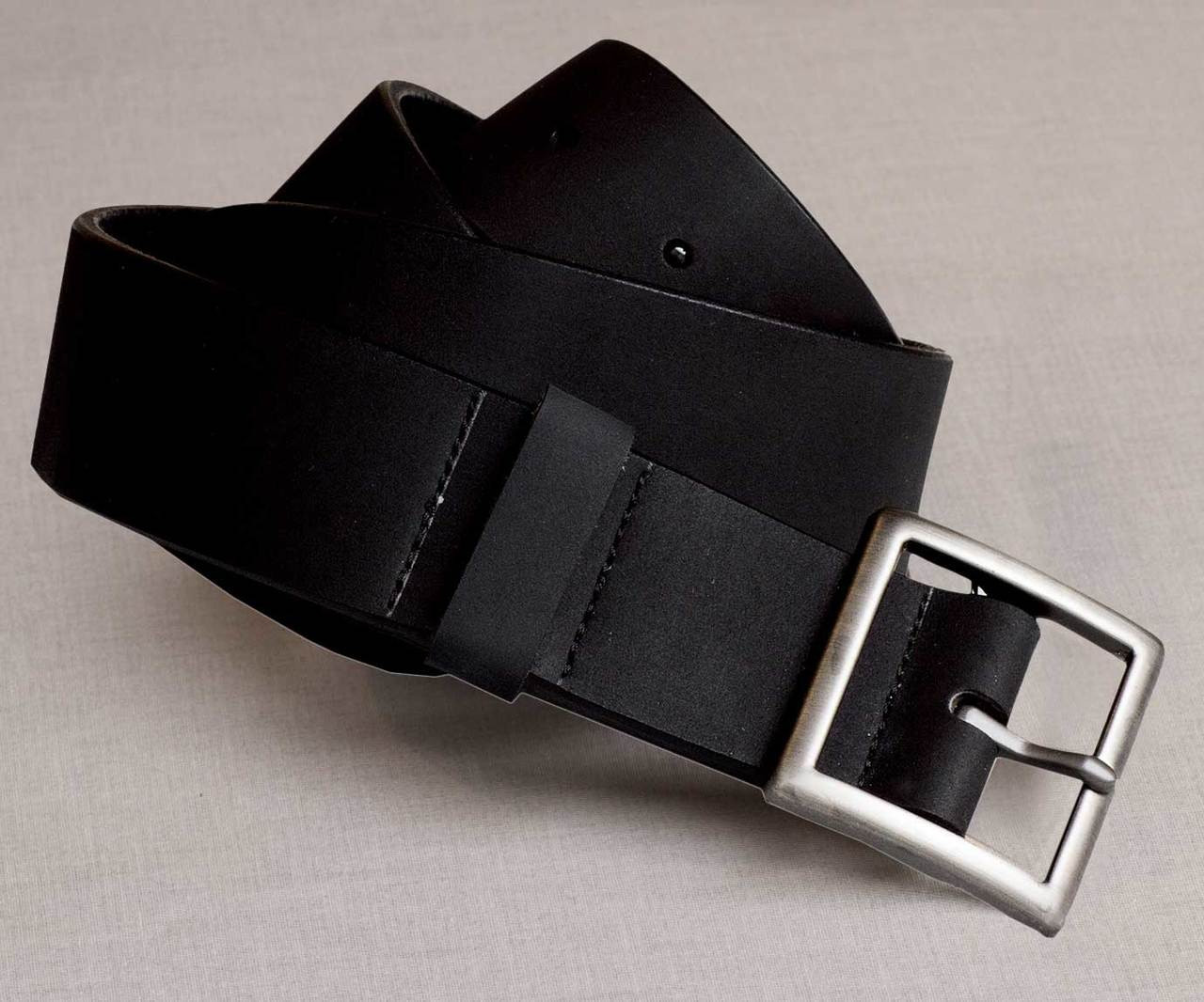 Rugged Leather Uniform Belt