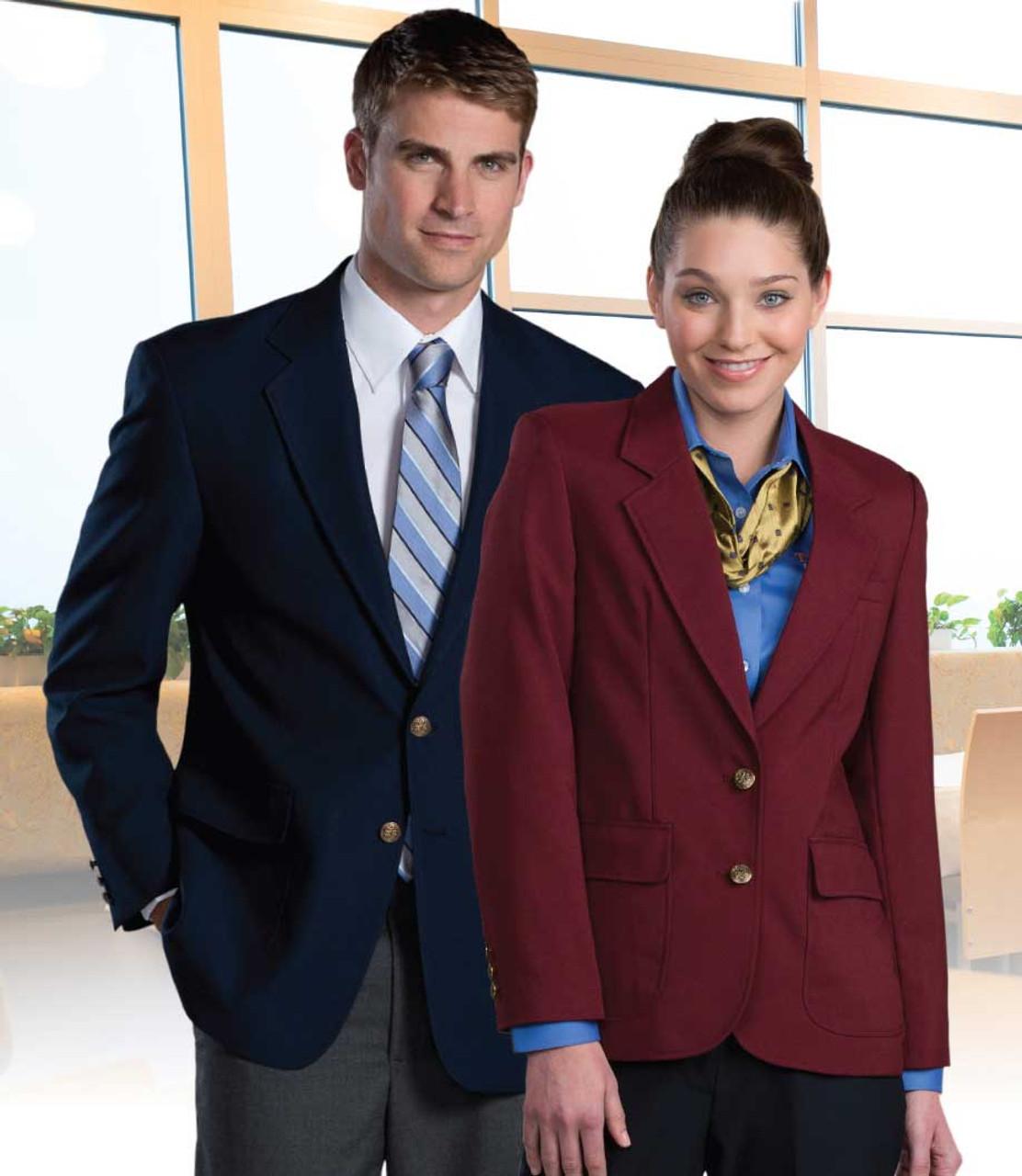 Edwards Garment Womens Inside Gold Tone Button Placket Pocket Blazer