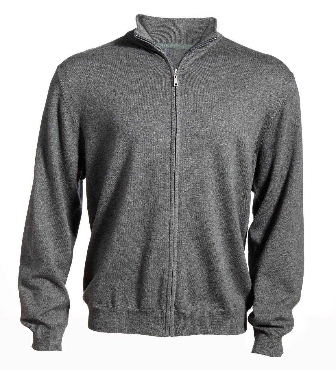 Men's Full Zip Cardigan Sweater