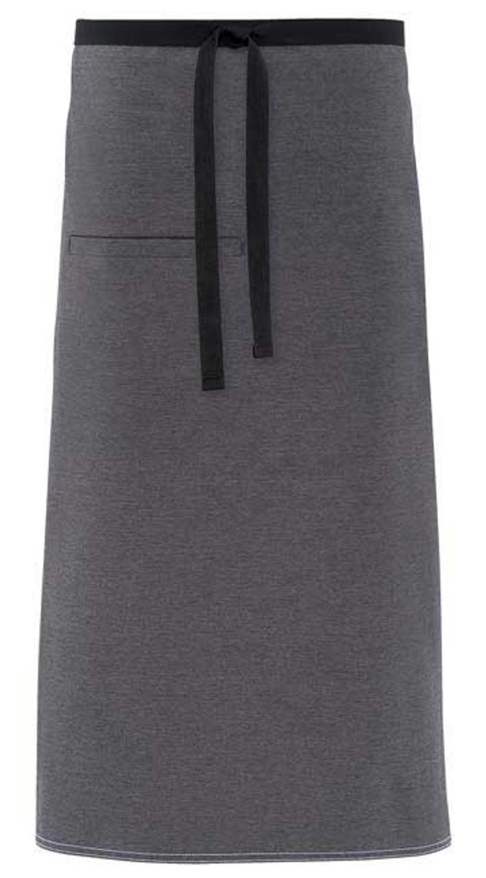 Server uniform aprons with urban look contrast ties.