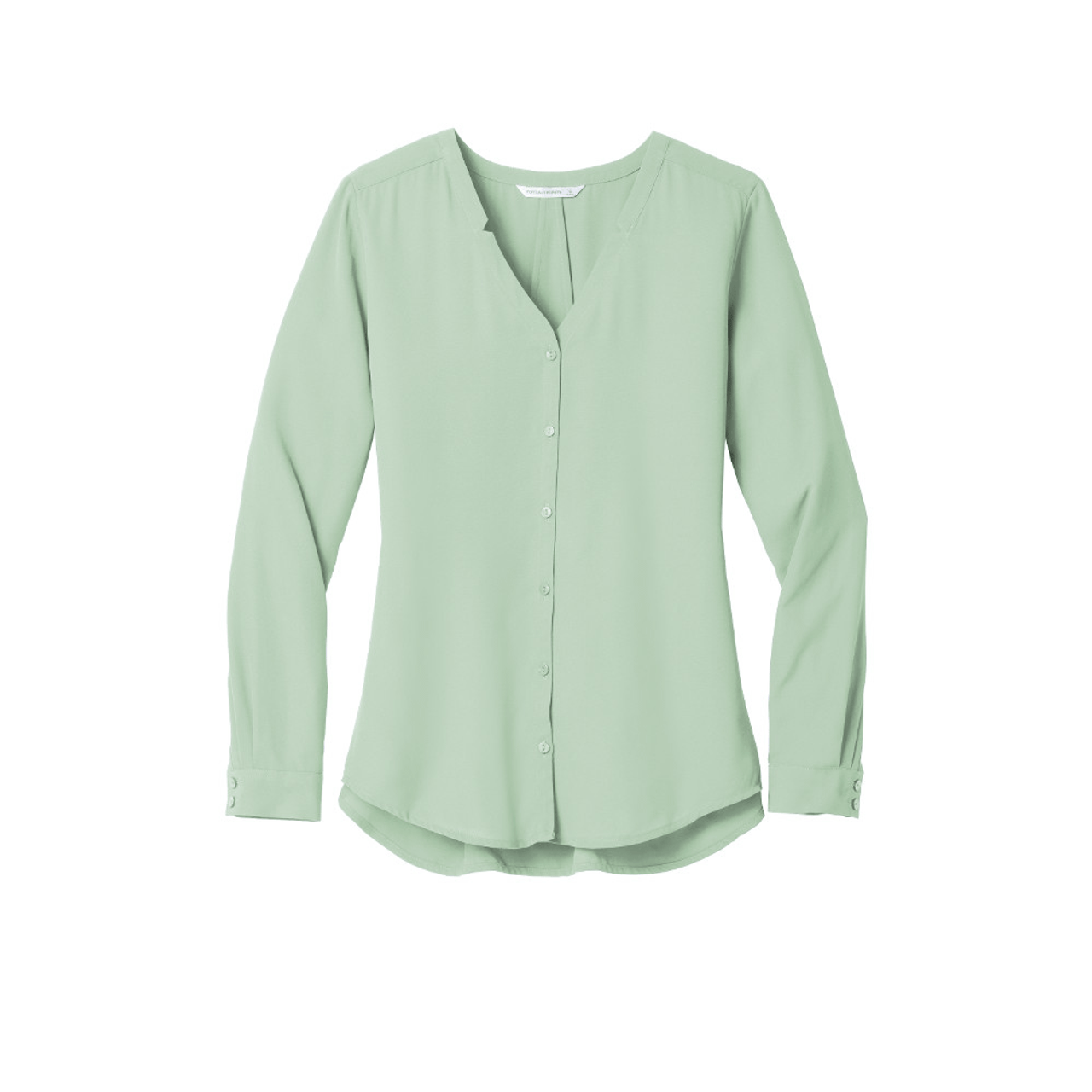 Long Sleeve Crepe Uniform Blouse