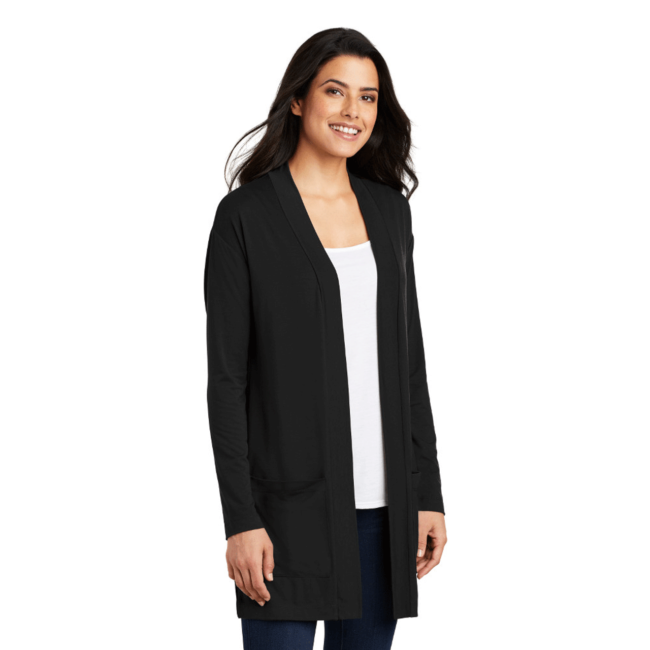 Ladies Cozy Extra Long Cardigan