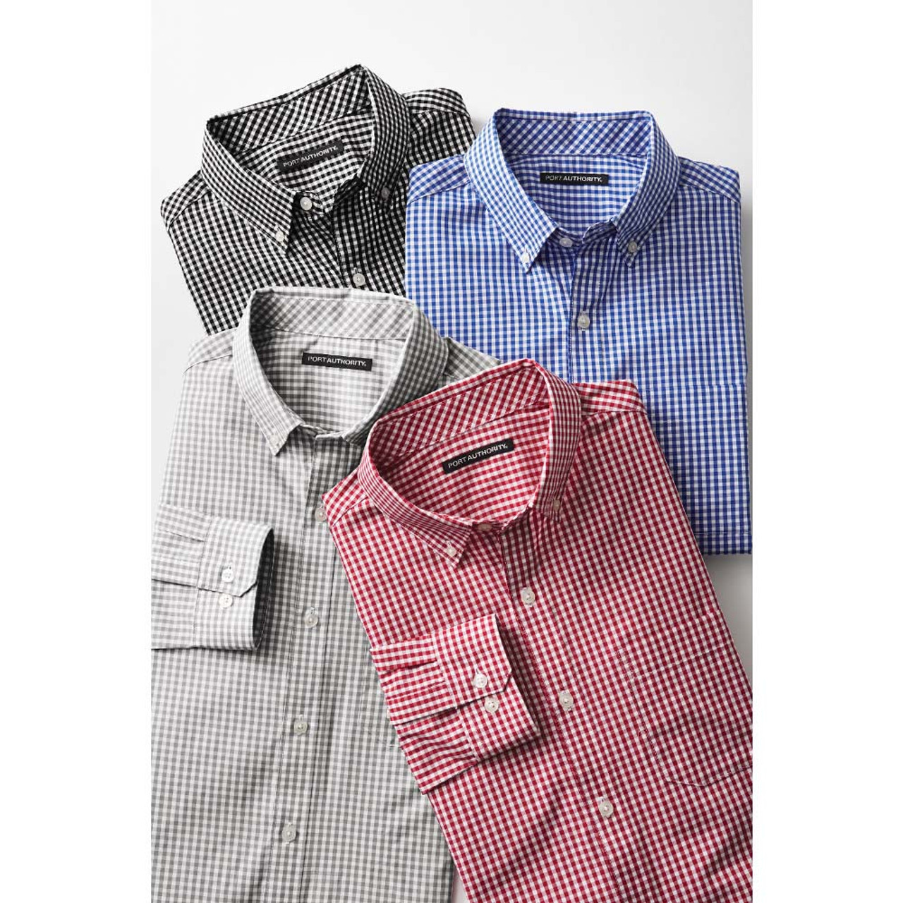 Easy Care Gingham Uniform Shirt for Men and Women