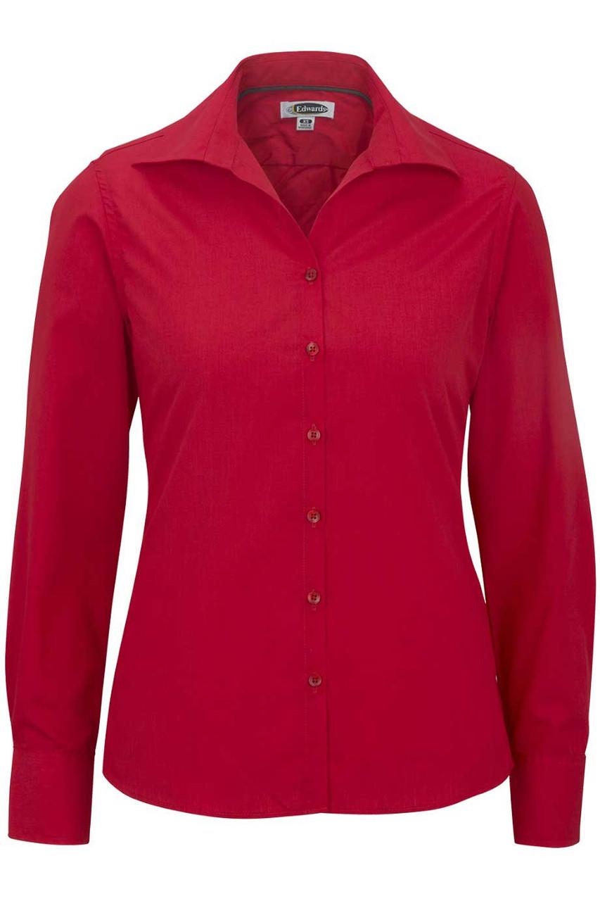 Women's Open Neck Long Sleeve Blouse