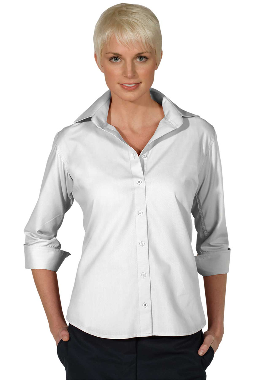 Women's Open Neck 3/4 Sleeve Blouse