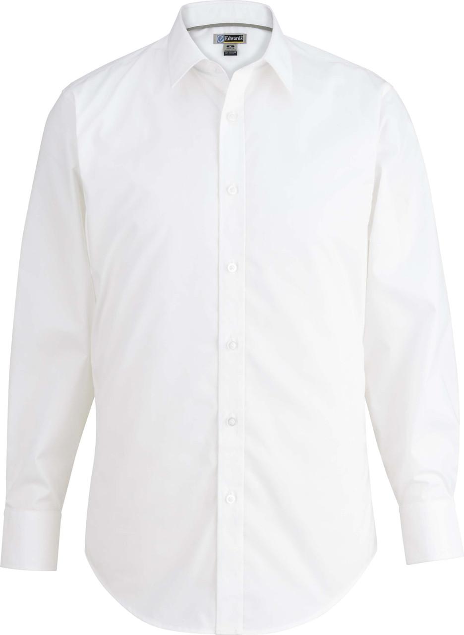 Men's No Iron Stretch Broadcloth Uniform Shirt