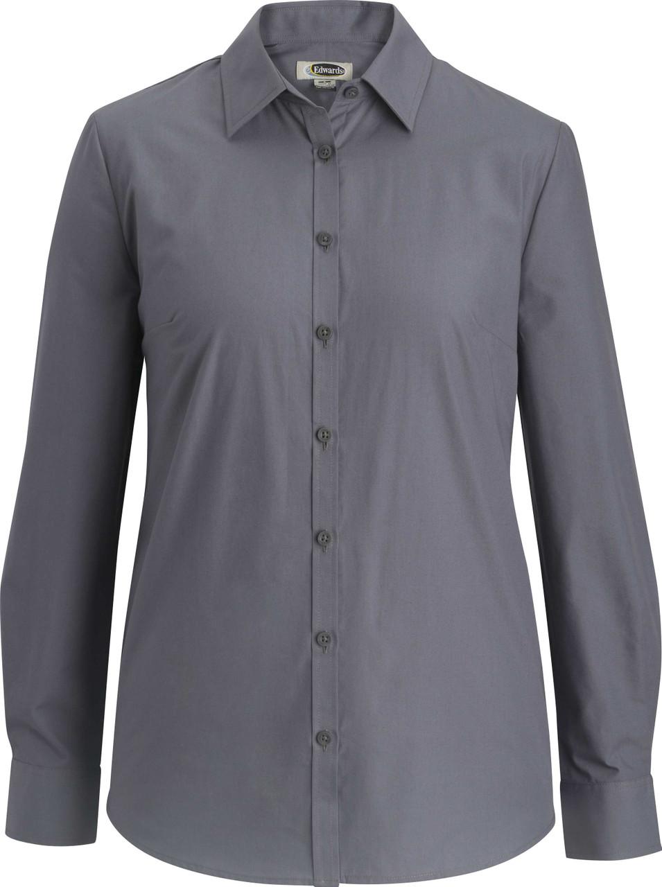 Ladies Essential Broadcloth Shirt in 3 Sleeve Lengths