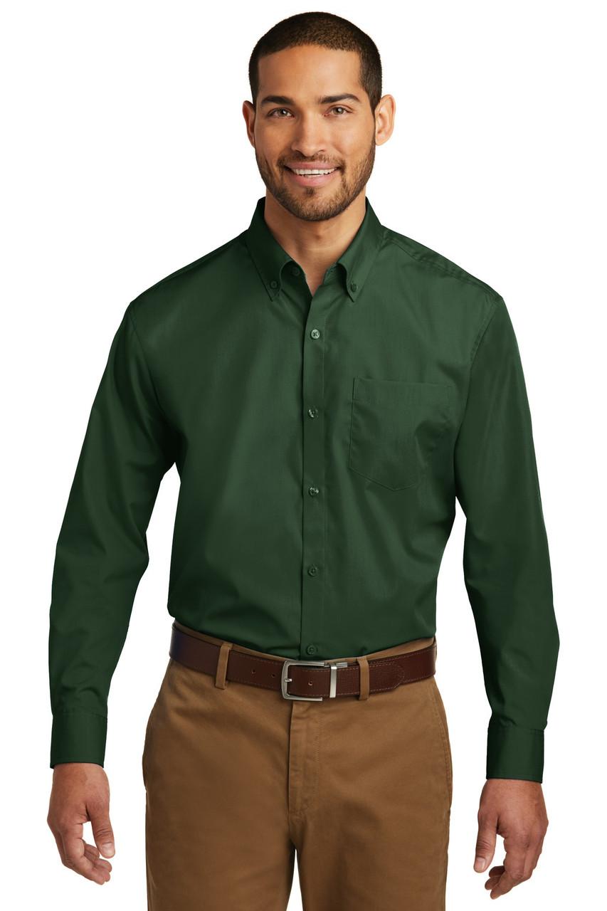 Port Authority Long Sleeve Care Free Poplin Shirt