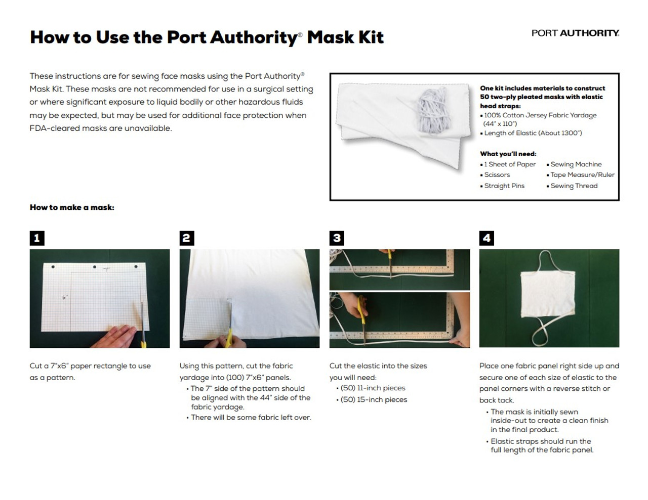Port Authority  50 Mask Kit
