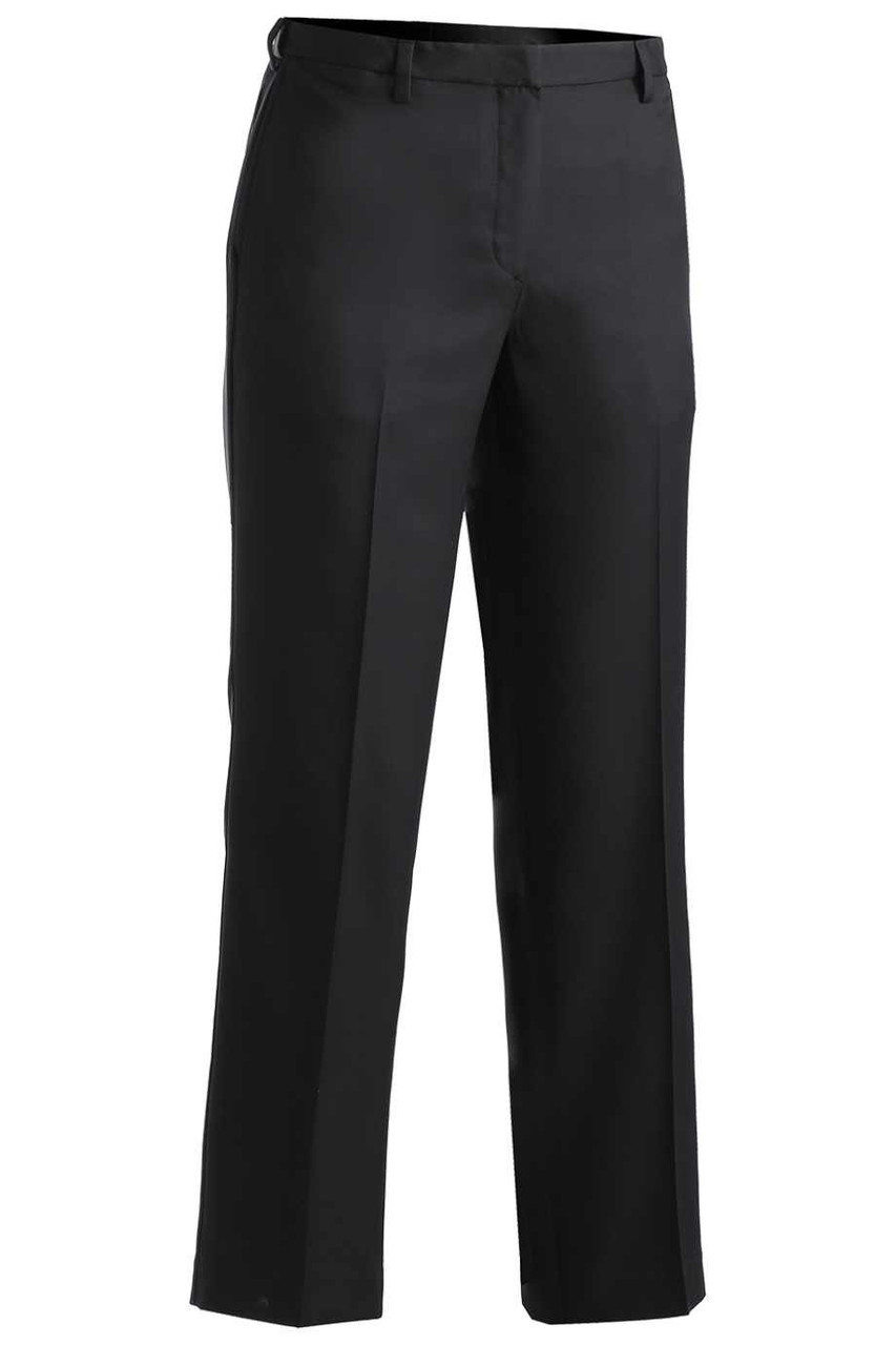 Ladies Flat Front Microfiber Dress Pant