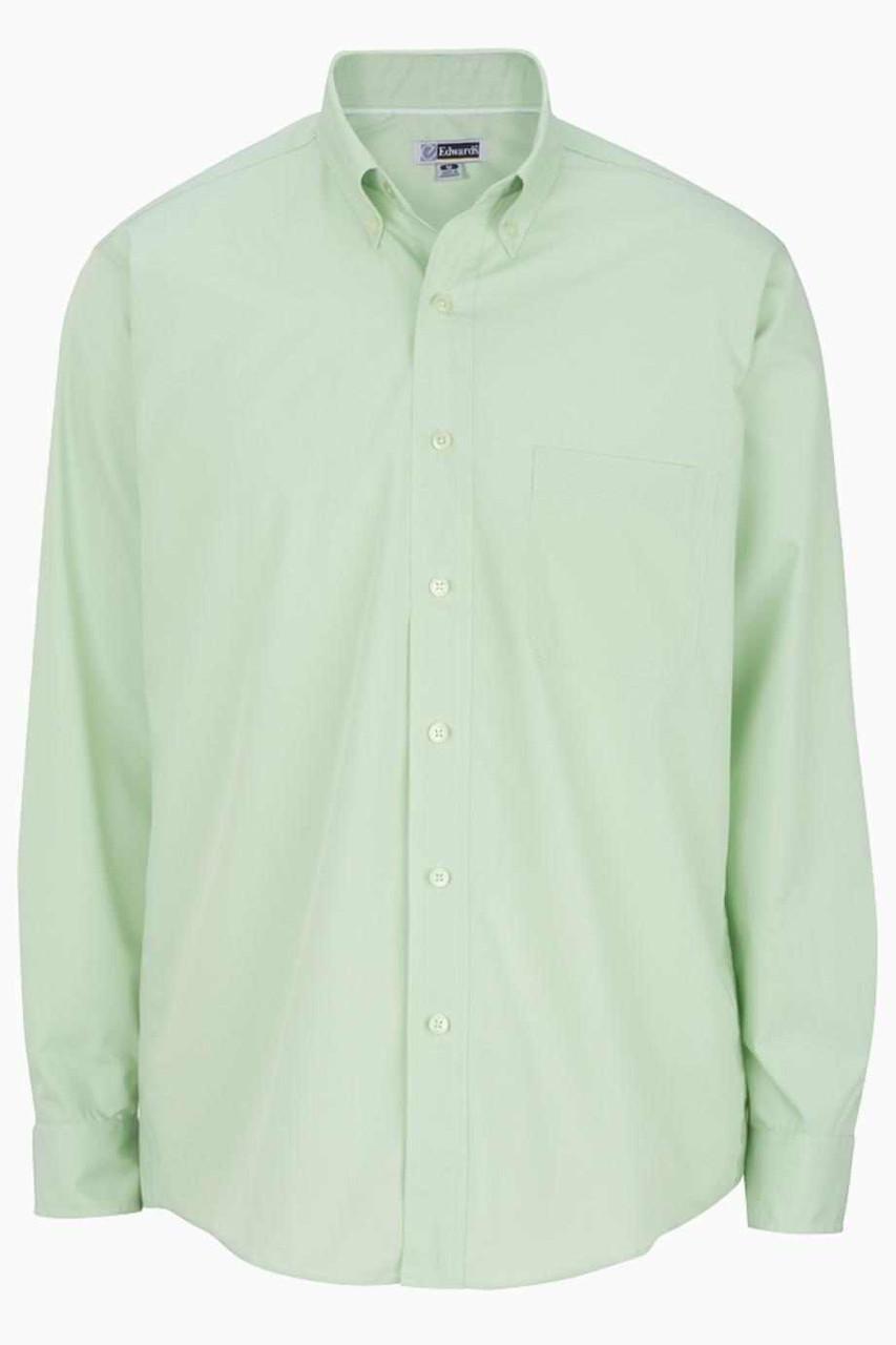 Men's Long Sleeve Poplin Shirt