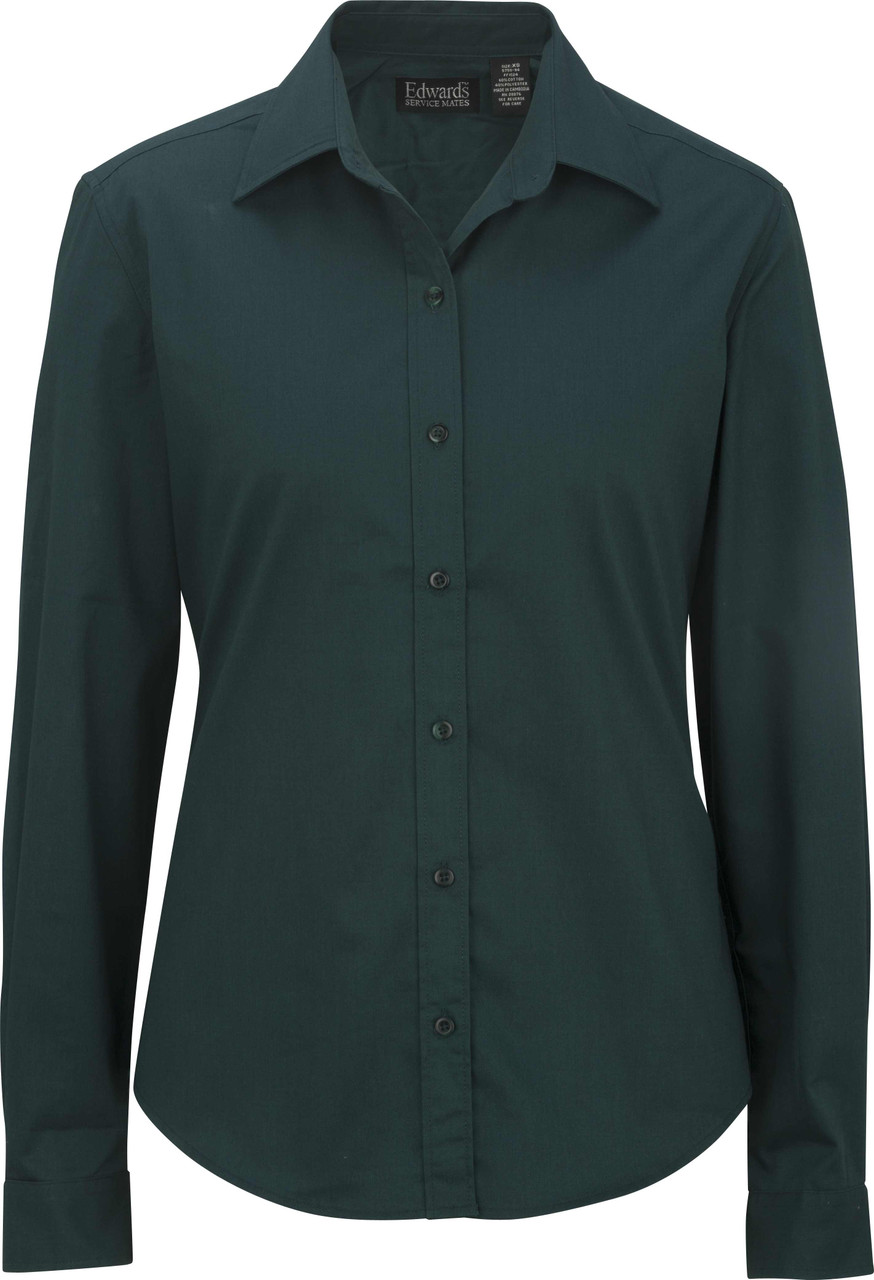 Women's Long Sleeve Teflon Twill Uniform Shirt