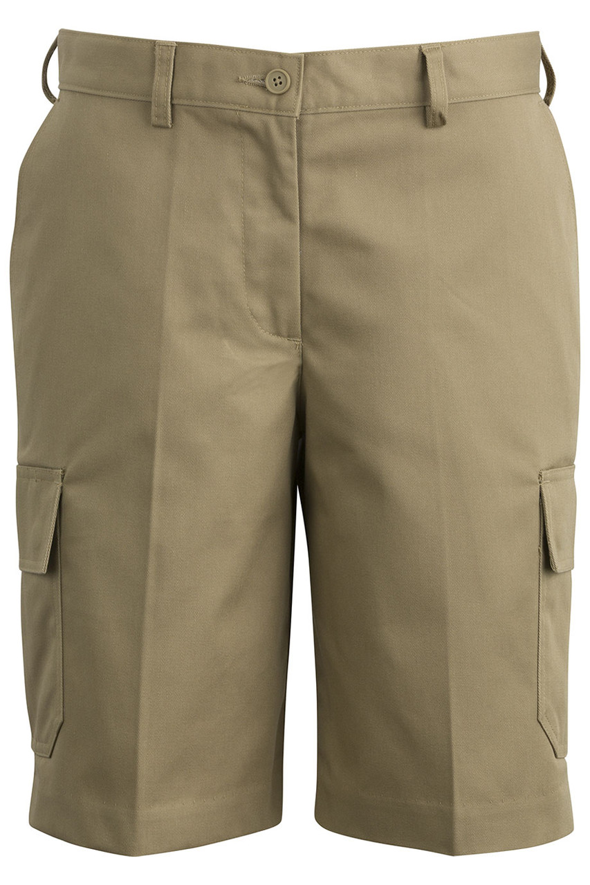 LADIES UTILITY CHINO CARGO SHORT