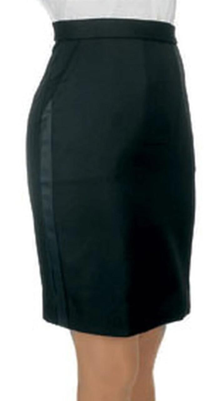 Above the Knee Tuxedo Skirt