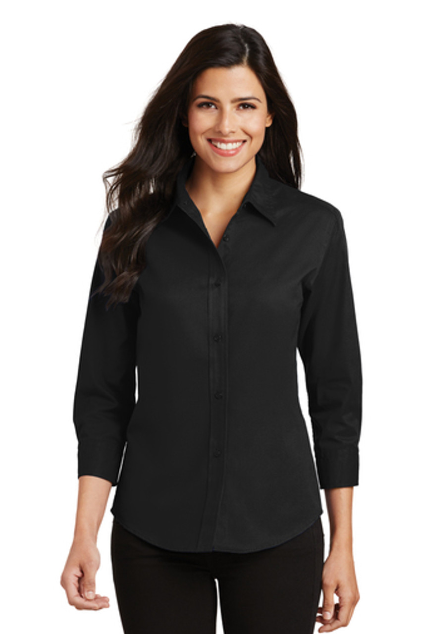 Port Authority 3/4 Sleeve Fitted Blouse