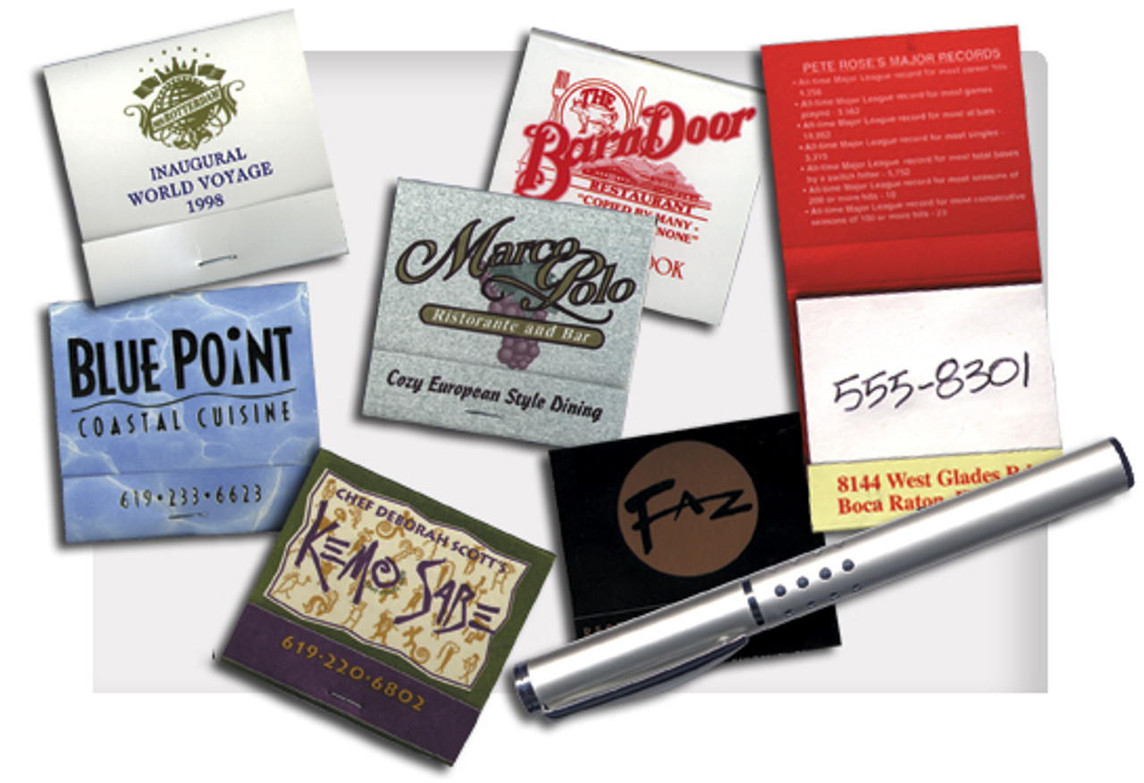 Advertise your business on these scratch books