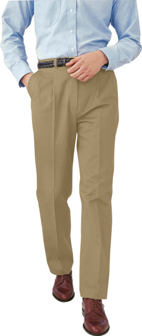 Men's Pleated Cotton Pants