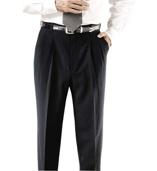 Black polyester easy care uniform pants