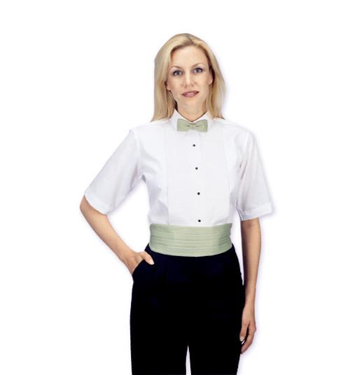 Short sleeve tuxedo shirt