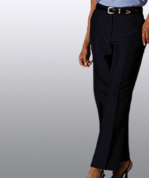 Women's flat front uniform pants