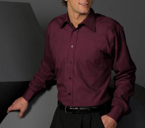 Men's Point Collar Poplin Shirt