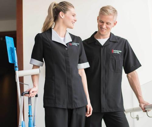 Men's Spun Polyester Housekeeping Shirt CLOSEOUT No Returns