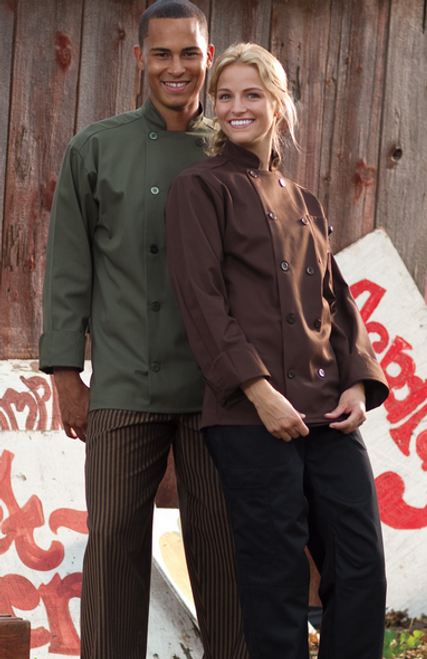Brown and Olive chef coat
