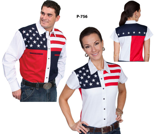 Different pattern patriotic shirt